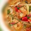 トムヤムクンナムコン|ต้มยำกุ้งนมข้น|クリーミーエビの辛酸ハーブスープ
